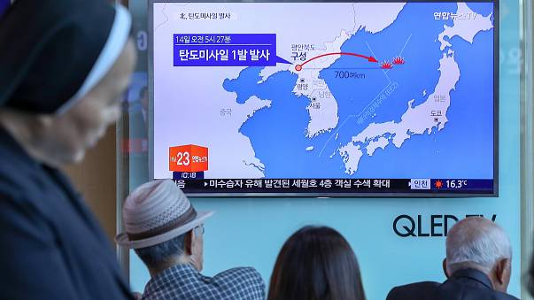 South Korea and Japan condemn North Korea 'missile launch'