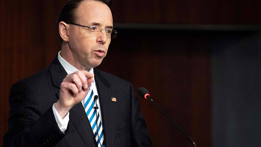 Image: Deputy Attorney General Rod Rosenstein speaks at The Center for Stra