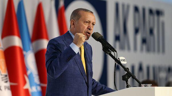 Erdogan back as head of AK Party