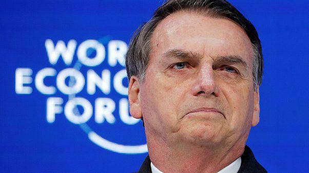 Image: Jair Bolsonaro, 2019 World Economic Forum (WEF) annual meeting in Da