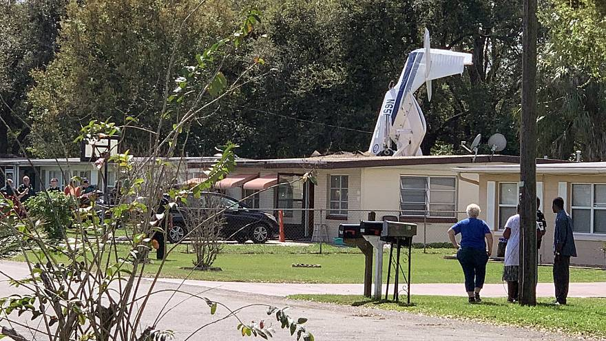 Image: A plane crashed into a home in Winter Haven, Florida, on Feb. 23, 20