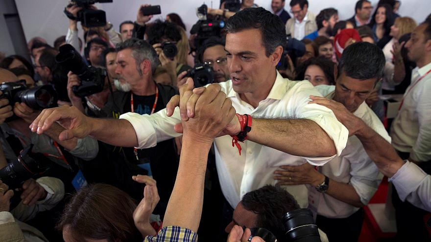 Spain's Socialists elect hard-liner Pedro Sanchez as their new leader