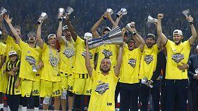 Euroleague'de Olympiakos'u yenen Fenerbahçe şampiyon