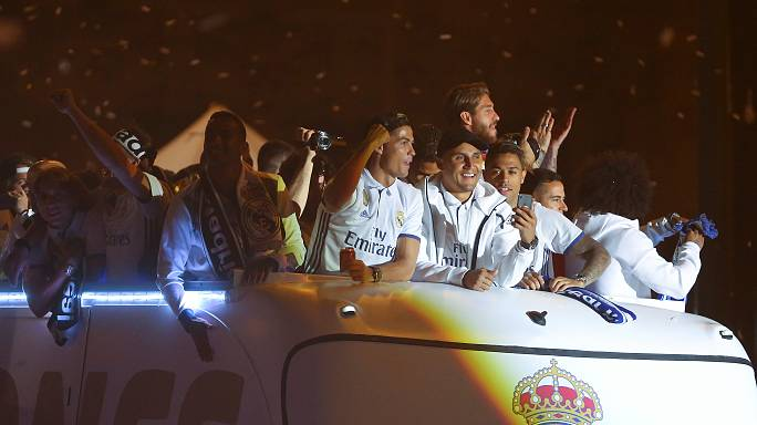 Madrid celebra novo título da Liga espanhola