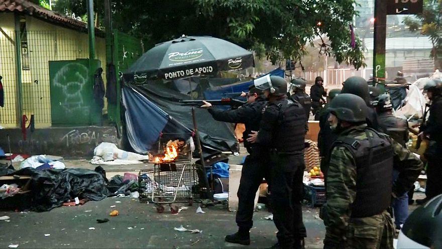 Operación policial en Cracolandia contra las drogas