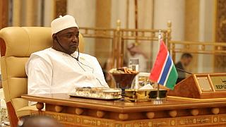 [Photo] Gambian president caught 'eyes closed' during Trump's Saudi address