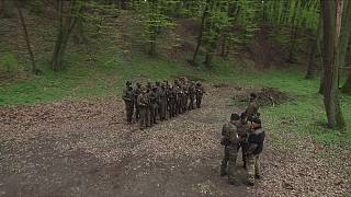 Pramilitary war training in Polish forests