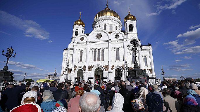 Antalyalı Noel Baba'nın kemikleri Rusya'da sergileniyor