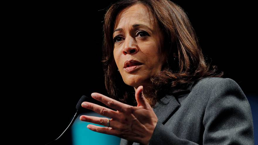 Image: Democratic 2020 U.S. presidential candidate Harris speaks at Politic