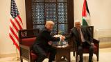 استقبال محمود عباس از دونالد ترامپ در بیت لحم
