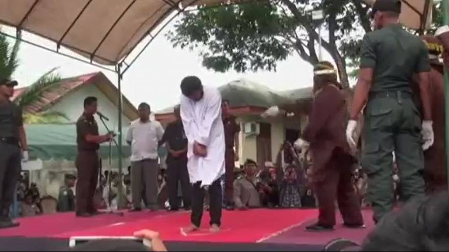 Two men caned 83 times in Indonesia for gay sex