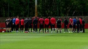 Manchester United and Ajax prepare for their Europa League final