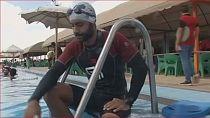 Record de natation pour un amputé égyptien