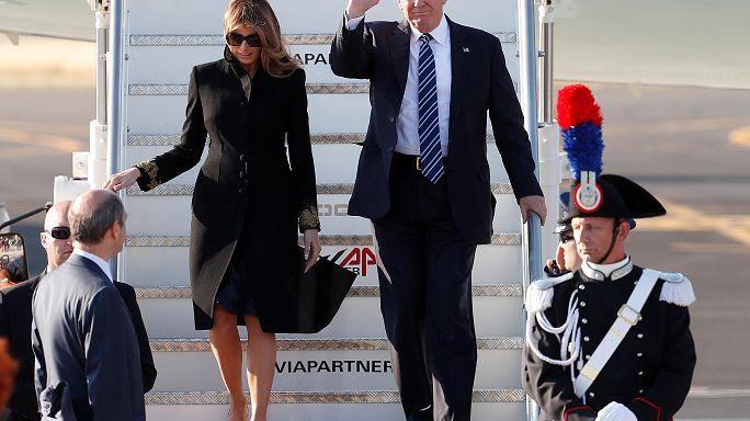Дональд Трамп прибыл в Италию на встречу с папой