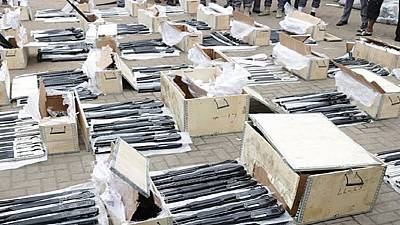 Customs seizes container loaded with 440 arms, ammunition in Lagos