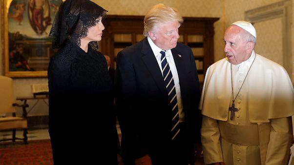 A Vatikánban találkozott Ferenc pápa és Trump