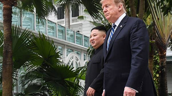 Image: Kim Jong Un and Donald Trump in Hanoi, Vietnam