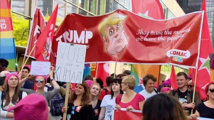 """Марш протеста в Брюсселе: """"Трампу здесь не рады"""""""