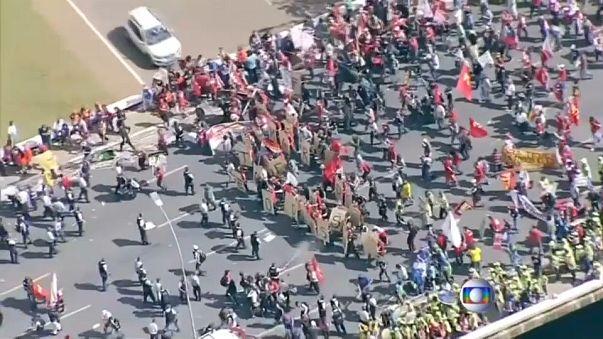 Vandalismo e violência em Brasília