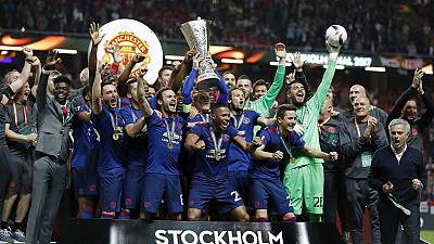 Manchester United beat Ajax 2-0 to win Europa League