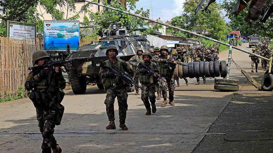 Combates entre el ejército y yihadistas en la ciudad filipina de Marawi
