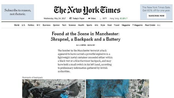 """May condena """"fugas"""" de Washington no inquérito ao atentado de Manchester"""