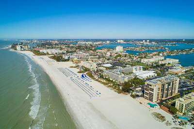 The view of St. Pete Beach from above.