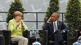 Merkel Obama'yı Berlin'de ağırladı