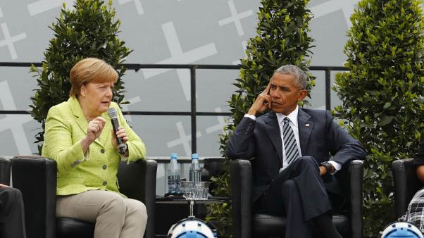 Merkel Obamával reggelizett
