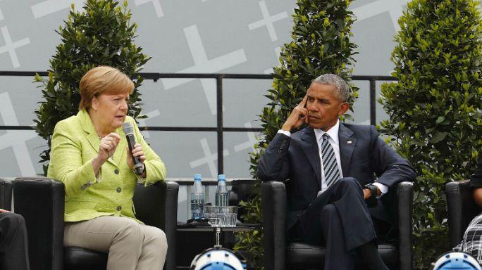 Angela Merkel incontra Barack Obama a Berlino