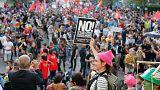 Marcha en Bruselas contra Trump