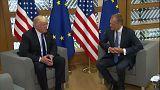 """""""Valores e princípios em primeiro lugar"""", disse Tusk a Trump"""