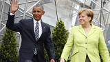 Warm welcome as Obama and Merkel address huge Berlin crowd