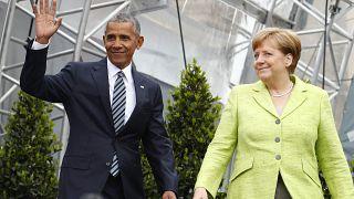Angela Merkel et Barack Obama aux Journées protestantes à Berlin