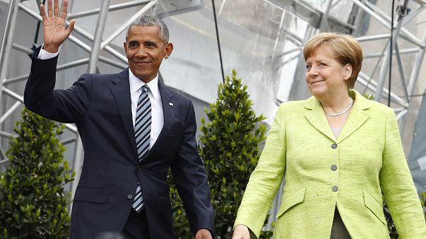 Barack Obama de visita a Berlim
