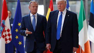 Tusk a nyugati értékekre emlékeztette Trumpot