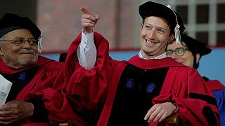 "Zuckerberg ""likes"" this: Facebook chief finally gets Harvard degree"