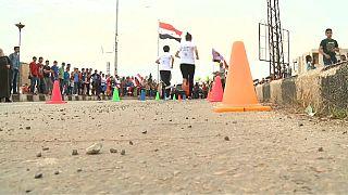 """ماراثون في """"حمص"""" للاحتفال بخروج مسلحي المعارضة"""