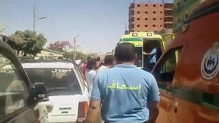 Bus carrying Egyptian Copts attacked by armed men, over 20 people killed