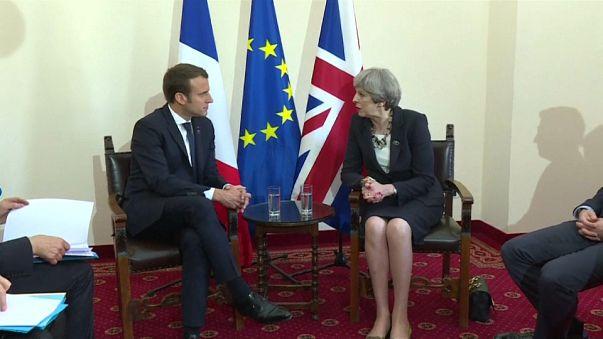 Premier entretien franco-britannique du mandat d'E. Macron