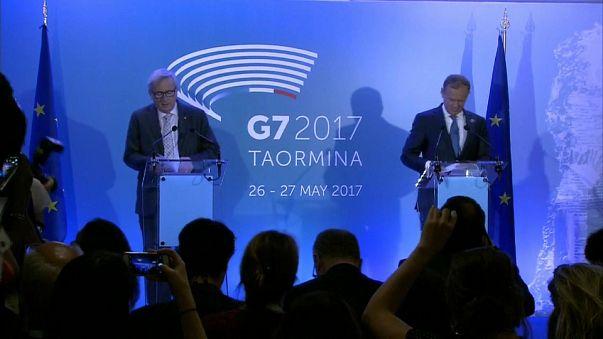 """EU-G7: """"Queremos construir pontes e não muros"""", Juncker"""