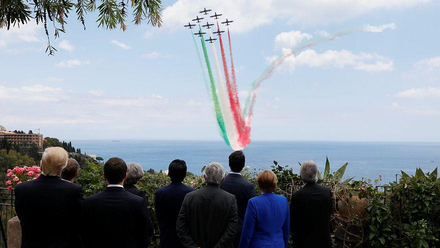 G7 zirvesinde hava akrobasi gösterisi'