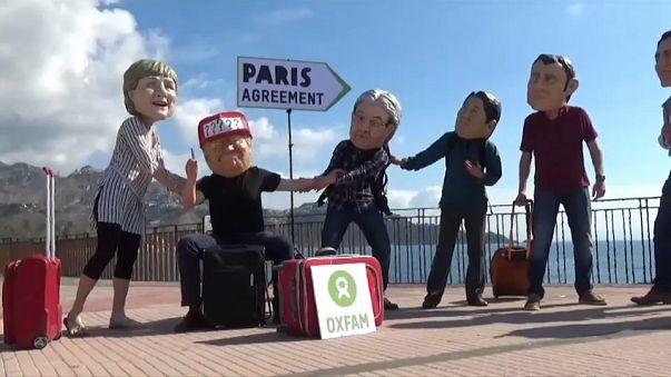 Протесты экологов на саммите G7