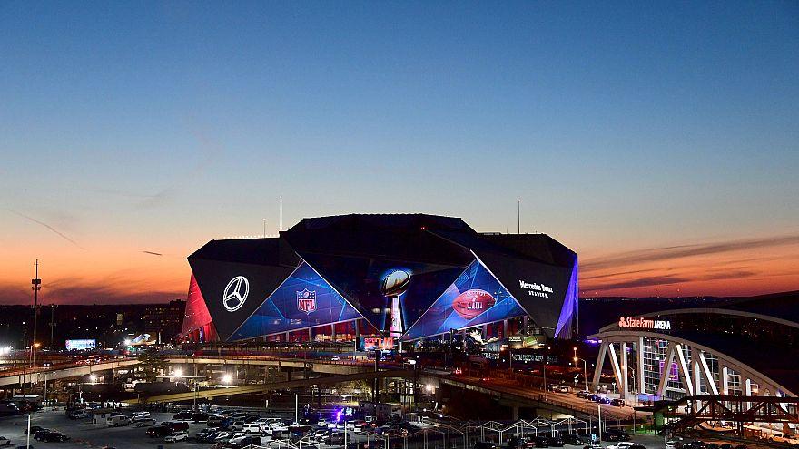 Image: The Mercedes-Benz Stadium ahead of Super Bowl LIII in Atlanta, Georg