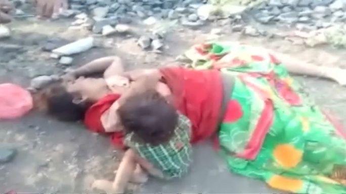 الفيديو الذي هز مشاعر الآلاف..طفل يرضع من ثدي أمه الميتة