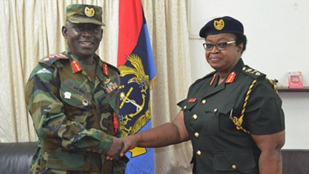Ghana Gets First Female Brigadier General Salute To
