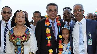 [Photos] Ethiopia's Tedros returns home after historic WHO DG polls