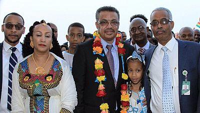 [Photos] Ethiopia's Tedros returns home after historic WHO DG polls
