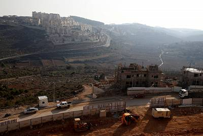 A construction site in the Israeli settlement of Efrat, which is located in the West Bank.