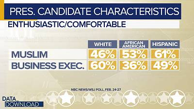 Some of those partisan divides mask racial and ethnic splits in the poll.